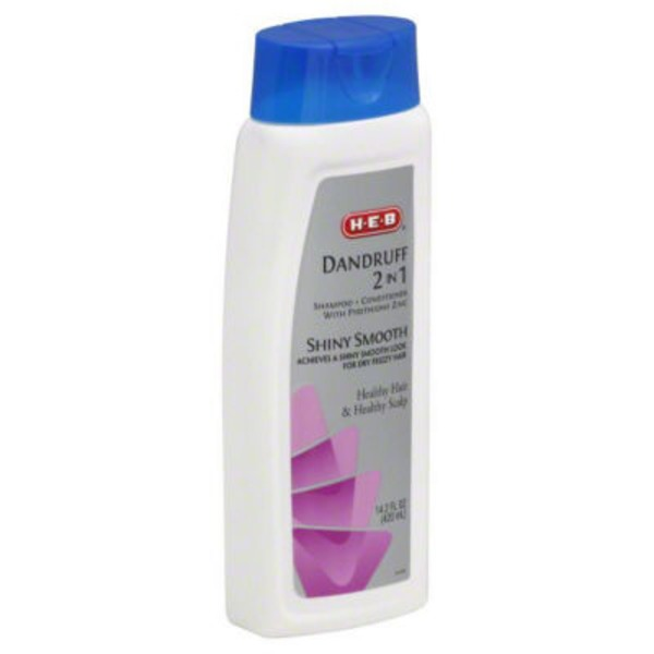 H-E-B Dandruff 2 In 1 Shiny Smooth Shampoo + Conditioner