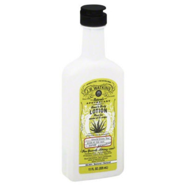 J.R. Watkins Natural Hand & Body Lotion Aloe & Green Tea
