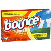 Bounce Dryer Sheets Outdoor Fresh Scent Fabric Softener