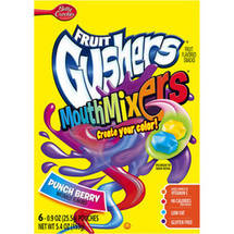 Betty Crocker Mouth Mixers Berry Fruit Gushers Fruit Flavored Snacks