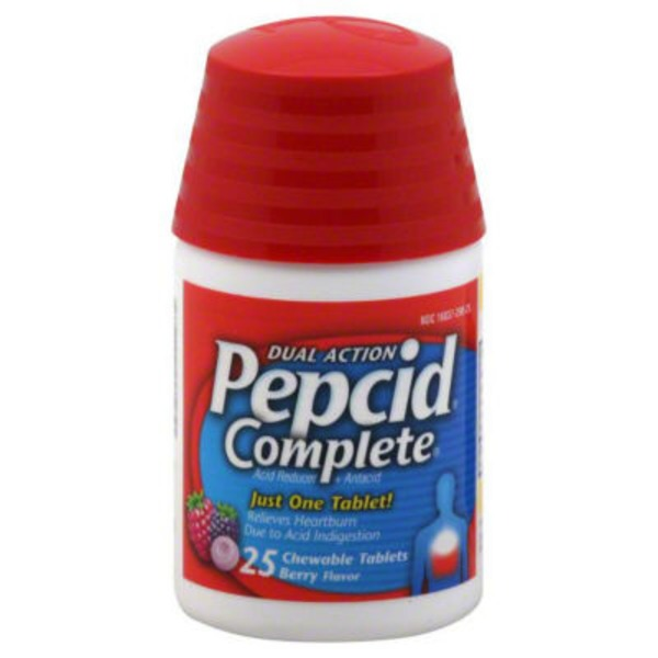 Pepcid® Chewable Tablets Berry Flavor Complete® Acid Reducer & Antacid