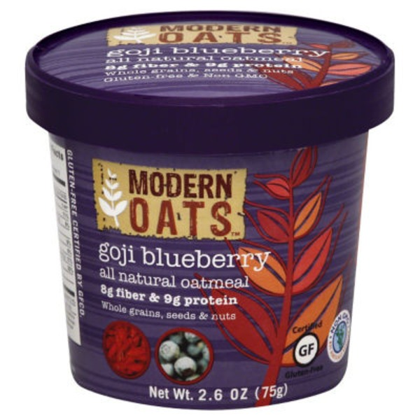 Modern Oats Oatmeal, Goji Blueberry