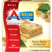 Atkins Advantage Peanut Butter Granola Bar 5ct
