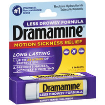 Dramamine Motion Sickness Relief Less Drowsy Formula Tablets
