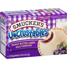 Smucker's Uncrustables Peanut Butter & Grape Jelly Sandwiches