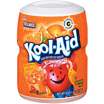 Kool-Aid Caffeine Free Sugar-Sweetened Orange Flavored Drink Mix