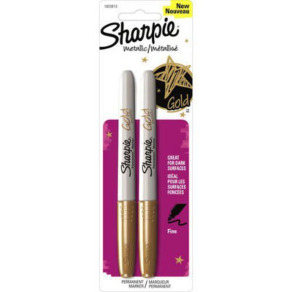 Sharpie Metallic Gold Permanent Markers