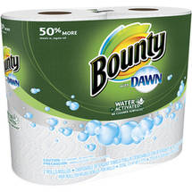 Bounty with Dawn Disposable Detergent Towels