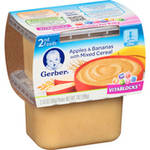 Gerber 2nd Foods Mixed Cereal With Apples & Bananas