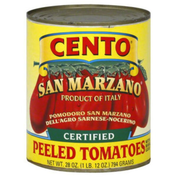 Cento San Marzano Certified Whole Peeled Tomatoes Italian Style With Basil Leaf