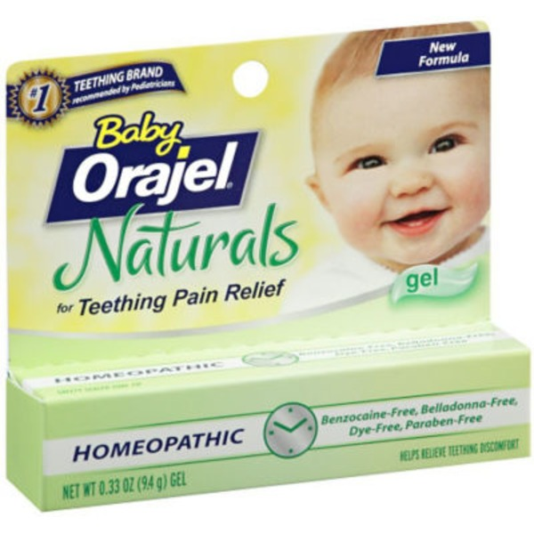 Orajel Baby Naturals Baby Teething Pain Relief Gel