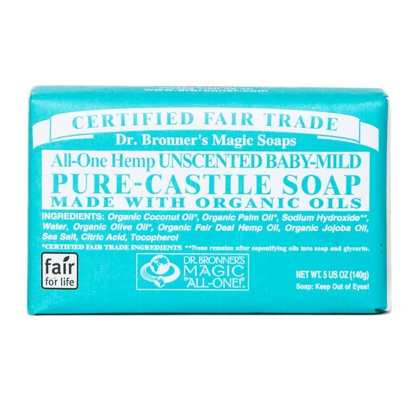 Dr. Bronner's All-One! Dr. Bronner's All-One Hemp Baby Unscented Pure-Castile Bar Soap