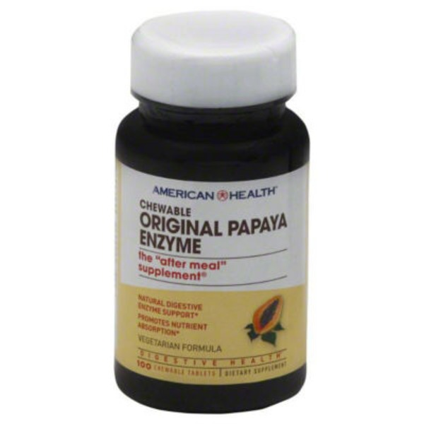 American Health Original Vegetarian Formula Papaya Enzyme Chewable Tablets