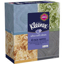 Kleenex Ultra Soft Facial Tissue (Pack of 4)