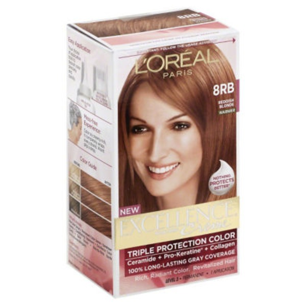 Excellence Creme 8RB Reddish Blonde Hair Color