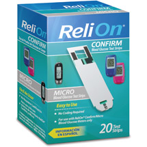 ReliOn Confirm/Micro Blood Glucose Test Strips