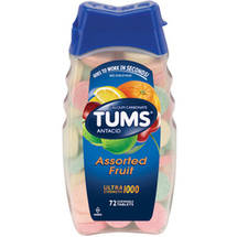 Tums Ultra 1000 Maximum Strength Assorted Fruit Antacid/Calcium Supplement