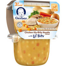 Gerber 3rd Foods Chicken Itty-Bitty Noodle Dinner with Lil' Bits Baby Food