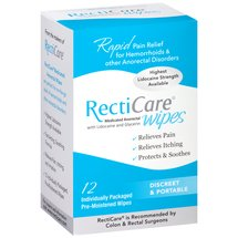 RectiCare Medicated Anorectal Wipes