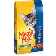 Meow Mix Seafood Medley Tuna Shrimp Crab & Trout Flavors Dry Cat Food