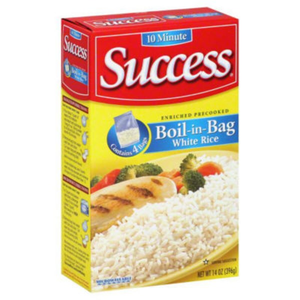 Success Boil-In-Bag White 4 Ct Rice