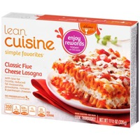 Lean Cuisine Favorites Classic Five Cheese Lasagna with low fat ricotta, reduced fat mozzarella, provolone, romano & parmesan cheeses. Classic Five Cheese Lasagna