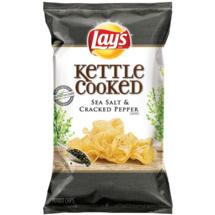 Lay's Kettle Cooked Potato Chips Sea Salt & Cracked Black Pepper