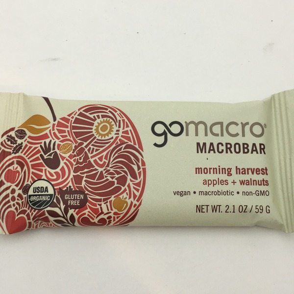 GoMacro Organic Morning Harvest Apples + Walnuts Macrobar