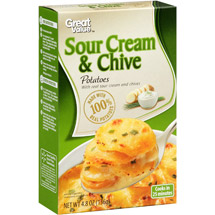 Great Value Sour Cream & Chive Instant Mashed Potatoes