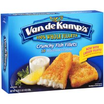 Van De Kamps Crunchy Golden Breaded Whole Fish Fillets