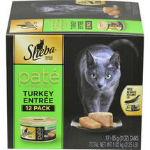 Sheba Pate in Natural Juices Turkey Entree Cat Food 12