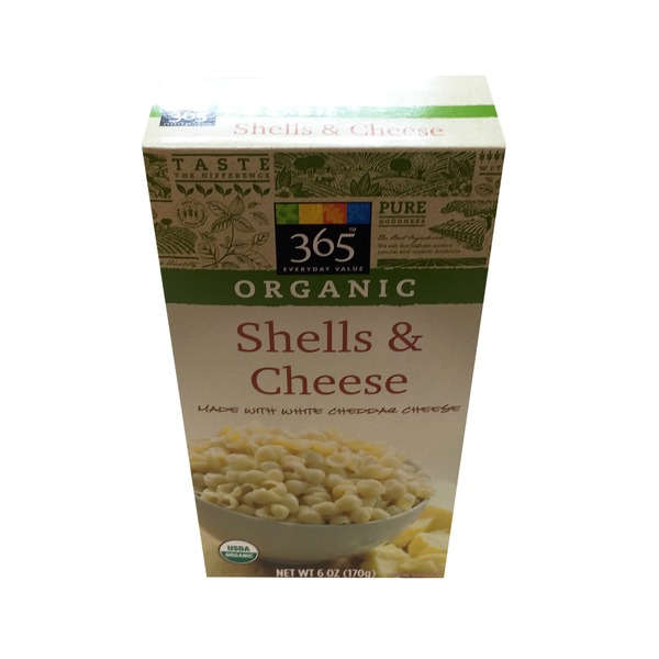 365 Organic White Cheddar Shells & Cheese