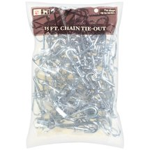 Stout Stuff: 15 Ft Chain Link Chain Tie-Out