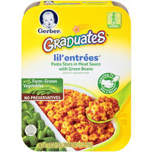 Gerber Graduates Lil Entrees Complete Meals Pasta Stars In Meat Sauce