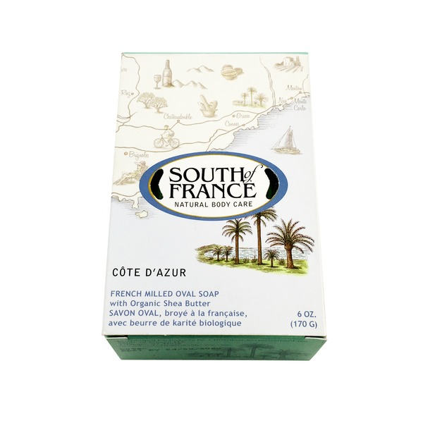 South of France Cote D Azur French Milled Oval Bar Soap