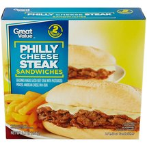 Great Value Philly Cheese Steak Sandwiches