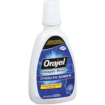 Orajel Fresh Mint Antiseptic Rinse for All Mouth Sores