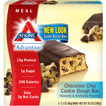 Atkins Advantage Chocolate Chip Cookie Dough 5-Pack