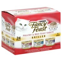 Fancy Feast Wet Grilled Poultry & Beef Feast Variety Cat Food