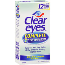 Clear Eyes Complete 7 Symptom Relief Eye Drops