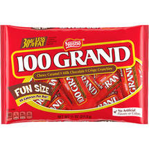 100 Grand Fun Size Candy Bars