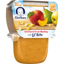 Gerber 3rd Foods Orchard Fruit Medley Fruit Puree with Lil' Bits