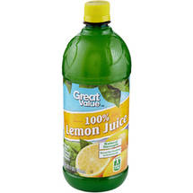 Great Value 100% Lemon Juice 32 Fl Oz