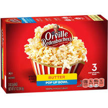 Orville Redenbacher's Butter Popcorn Pop Up Bowl Bags
