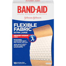 Band-Aid Brand Adhesive Bandages Flexible Fabric Extra Large All One Size 1 3/4 X 4