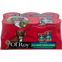 Ol' Roy Meaty Loaf Chopped Chicken Flavor in Meaty Juices Canned Dog Food