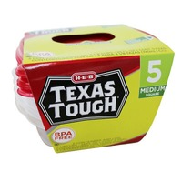 H-E-B Tough & Easy Square Dish Containers