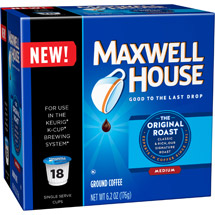 Maxwell House Original Roast Coffee Single Serve Cups