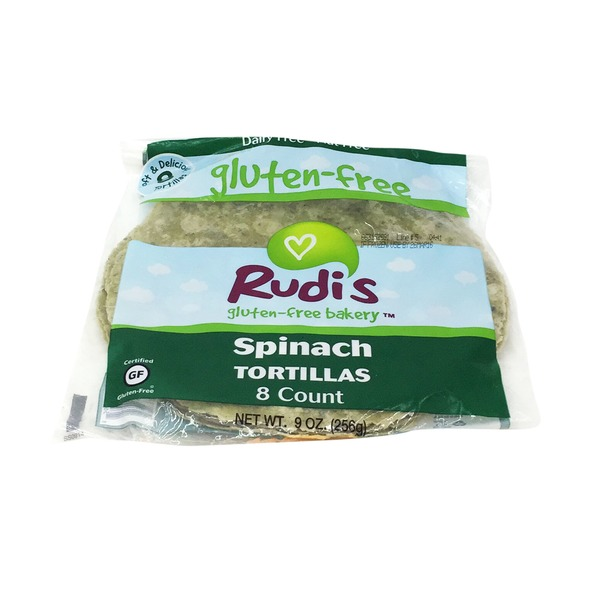Rudi's Organic Bakery Gluten-Free Bakery Spinach Tortillas - 8 CT