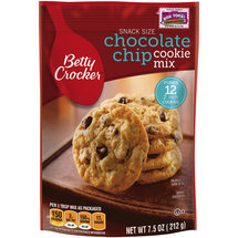 Betty Crocker Snack Size Chocolate Chip Cookie Mix